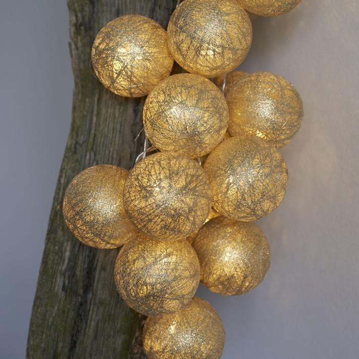 Dekoratívna reťaz BOLETTE - zlatá 4338e245590